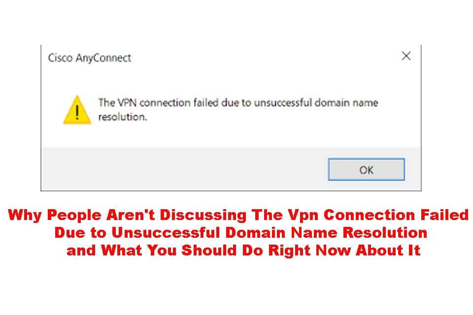The VPN Connection Failed Due to Unsuccessful Domain Name
