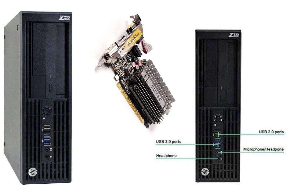 HP Z230 Workstation Gaming Computer Desktop (4K Nvidia Geforce)