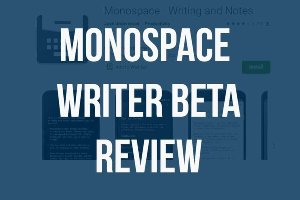 Monospace Writer BETA for Android